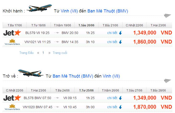 Vé máy bay đi Đắk Lắk