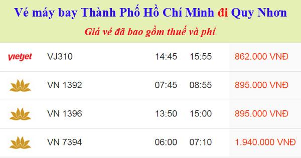 Vé máy bay đi Quy Nhơn từ TPHCM
