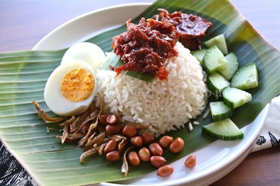 Ẩm thực Malaysia cơm Nasi Lemak Ẩm thực Malaysia cơm Nasi Lemak
