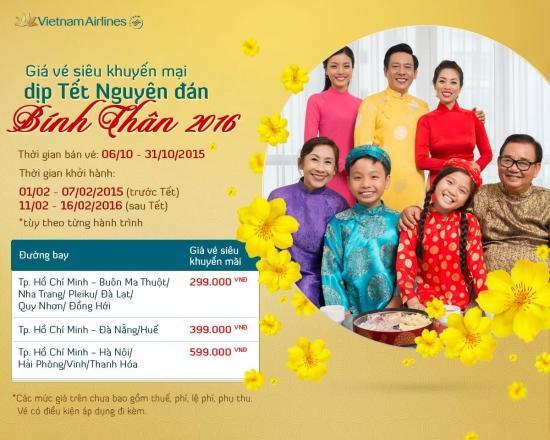 Giá vé máy bay tết 2017 Vietnam Airlines Giá vé máy bay tết 2017 Vietnam Airlines